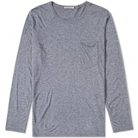 Nudie Jeans Long Sleeve Pocket Tee Grey