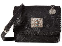 American West Grand Prairie Flap Crossbody Black Cross Body Handbags