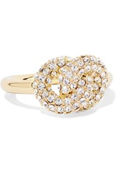Giles And Brother Gold Plated Crystal Ring Metallic