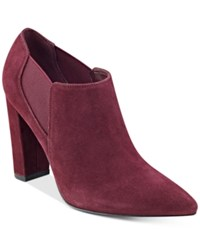 Marc Fisher Hydra Booties Women's Shoes Ruby Suede