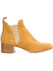 Chloe 'Lauren' Ankle Boots Yellow Orange