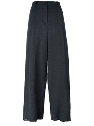 Masnada Wide Leg Tapered Trousers Grey