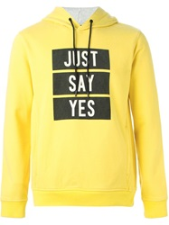 Marc By Marc Jacobs Just Say Yes Print Hoodie Yellow And Orange