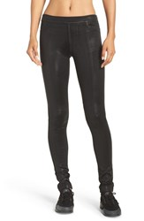 Blanc Noir Women's Jewel Faux Leather Leggings Obsidian Black