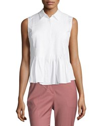 Theory Dionelle B Sartorial Pintuck Top White