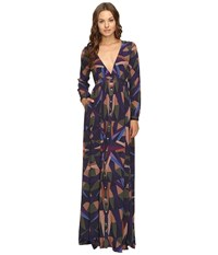 Mara Hoffman Compass Maxi Dress Olive Women's Dress