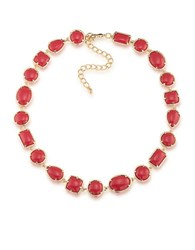 1St And Gorgeous Cabochon Goldtone Collar Necklace