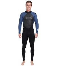 Xcel Wetsuits 4 3Mm Xplorer Os Fullsuit Black Cas Blue Cas Blue Men's Swimsuits One Piece