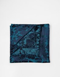 Noose And Monkey Bloom Pocket Square Green