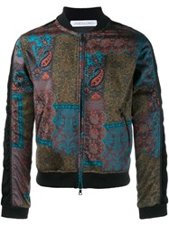 James Long Paisley Print Bomber Jacket Black