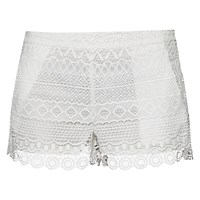 French Connection Castaway Stripe Mini Shorts Summer White