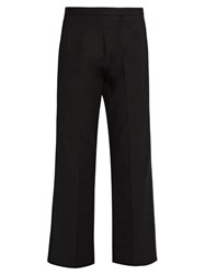 The Row Seloc Cropped Stretch Cotton Trousers Black