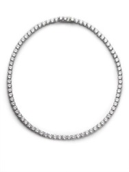 Adriana Orsini Sterling Silver Tennis Necklace Clear