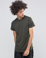 Systvm Sike Distressed T Shirt Green