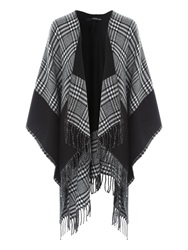 Jane Norman Black And White Wrap Check Cardi Black White