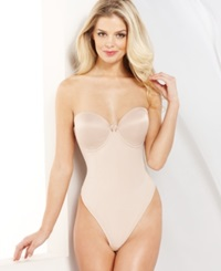 Va Bien Low Back Thong Bodysuit 1509 Nude