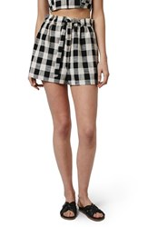 Women's Topshop Gingham Paperbag Shorts