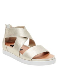 Steve Madden Florence Suede Strappy Open Toe Sandals Dusty Gold
