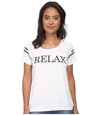 Chaser Relax Short Sleeve Tee Shirt White Women's T Shirt