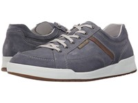 Mephisto Rodrigo Denim Warm Grey Suede Men's Lace Up Casual Shoes Blue