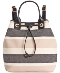 Tommy Hilfiger Adrianna Canvas Backpack Black