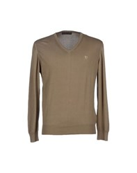 Trussardi Jeans Knitwear Jumpers Men Military Green