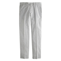 J.Crew Bowery Slim Pant In Fine Striped Cotton Putty Stripe