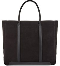 Reiss Tanner Suede Tote Charcoal