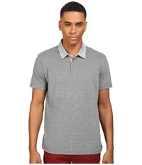 Rvca Sure Thing Stripe Polo Athletic Heather Men's Short Sleeve Knit Gray