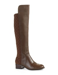 Charles By Charles David Jace Quilted Knee High Boots Dark Brown