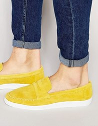 Kg By Kurt Geiger Kurt Geiger Gayle Suede Penny Loafers Yellow