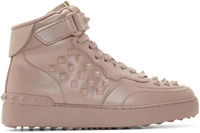 Valentino Pink Rock B High Top Sneakers