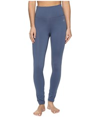 Adidas Performer High Rise Long Tights Tech Ink Matte Silver Women's Workout Blue