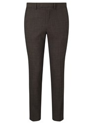 John Lewis Kin By Lincoln Textured Weave Slim Fit Suit Trousers Brown