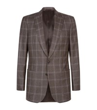Gieves And Hawkes Check Blazer Male Brown