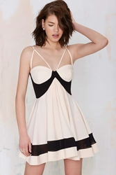 Nasty Gal Party On Fit And Flare Dress