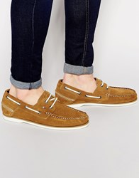 Tommy Hilfiger Suede Boat Shoes Beige