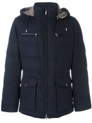 Brunello Cucinelli Hooded Jacket Blue