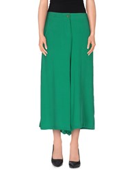 Douuod Trousers 3 4 Length Trousers Women Green