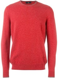 Fay Crew Neck Jumper Red