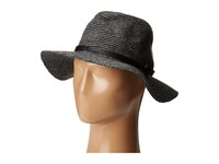 Vince Camuto Heathered Panama With Logo Band Black Caps