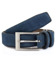 Dents Formal Leather Belt Navy