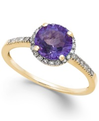 Macy's Amethyst 1 1 6 Ct. T.W. And Diamond 1 8 Ct. T.W. Ring In 14K Gold Yellow Gold