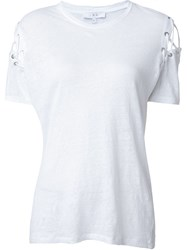 Iro Laced Up T Shirt White