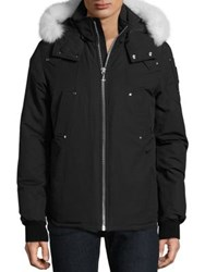 Moose Knuckles Canuck Fox Fur Trimmed Ski Jacket Black