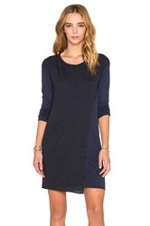Stateside Long Sleeve T Shirt Dress Navy