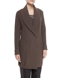 Lafayette 148 New York Shawl Collar Long Wool Cardigan Women's Wash