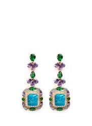 Anabela Chan 'Opals Deco' Diamond Pave Gemstone Drop Earrings Multi Colour