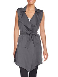 Candc California Draped Vest Charcoal