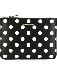 Comme Des Gara Ons Wallet 'Polka Dots Printed ' Pouch Black